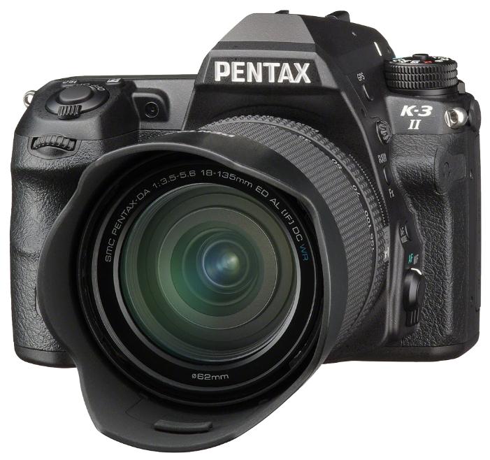 Фотоаппарат Pentax K-3 II Kit DA L 18-55 WR Зеркальныйпродвинутая зеркальная фотокамера, байонет Pentax KA/KAF/KAF2, объектив в комплекте, модель уточняйте у продавца, матрица 24.71 МП (APS-C), съемка видео Full HD, экран 3.2, GPS, влагозащищенный корпус, вес камеры без объектива 785 г<br><br>Вес кг: 0.90000000