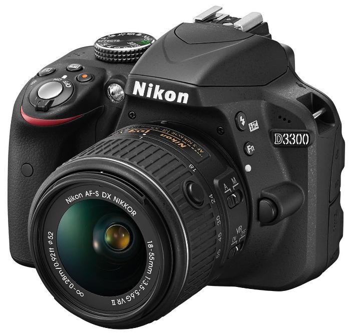 Фотоаппарат Nikon D3300 Kit 18-105 VR зеркальныйлюбительская зеркальная фотокамера, байонет Nikon F, объектив в комплекте, матрица 24.7 МП (APS-C), съемка видео Full HD, экран 3, вес камеры без аккумулятора и объектива 430 г<br><br>Вес кг: 0.50000000