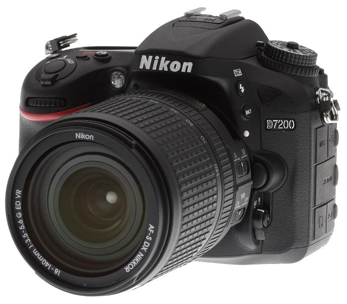 Фотоаппарат Nikon D7200 kit AF-S 18-140 VR зеркальныйфотокамера с поддержкой сменных объективов, байонет Nikon F, объектив в комплекте, модель уточняйте у продавца, матрица 24.72 МП (APS-C), съемка видео Full HD, экран 3.2, Wi-Fi, вес камеры без объектива 765 г<br><br>Вес кг: 0.70000000