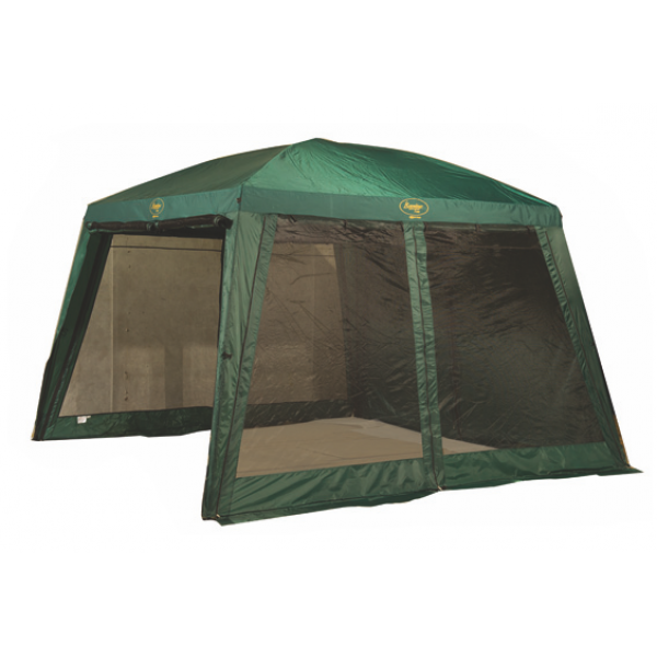Тент-шатер Canadian Camper SafarySAFARY - просторный тент-шатер со стенками из сетки, защищенными от дождя внешними шторами. Четыре входа. Для достижения оптимального комфорта Вы можете открыть полностью все стенки, оставив москитные сетки,или полностью убрав их. В случае дождя можно закрыть одну или все стенки шатра водонепронецаемыми шторами.<br>