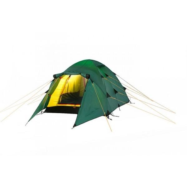 Палатка Alexika Nakra 2Палатка туристическая NAKRA 2 – отличный выбор для туристов, стремящихся во время путешествия максимально защититься от непогоды и ветра. Данная модель характеризуется инновационной ветрозащитной конструкцией. Вы можете использовать ее как ранней весной, так и при осенних поездках, когда погода меняется практически каждую минуту.<br><br>Палатка NAKRA 2 предназначена для двоих. Сравнительно небольшой вес модели (3.6 килограмма) делает ее просто незаменимой для пеших туристов. Эта палатка занимает в рюкзаке относительно немного места, не создает особой тяжести и не дает большой нагрузки на плечи путешественников.<br><br>Палатка NAKRA 2 имеет два комфортных раздельных входа. Главный вход надежно защищен боковыми тентовыми конструкциями, благодаря чему при сильных порывах ветра задувание холодного воздуха полностью исключается. Стенки палатки NAKRA 2 и ее дно выполнены из плотного прочного материала Polyester, пропитанного особым покрытием во избежание промокания в период отдыха на лоне природы. Удобный вход во внутреннюю палатку защищен дополнительным пологом, застегивающимся на надежный замок-молнию.<br><br><br><br><br>Пропитка, задерживающая распространение огня.<br><br>Швы герметизированы термоусадочной лентой.<br><br>Узлы палатки, испытывающие высокие нагрузки, усилены более прочной тканью.<br><br>Край тента обшит прочной стропой.<br><br>Молнии на внешнем тенте фиксируются алюминиевым крючком.<br><br>Внутренняя палатка оснащена противомоскитной сеткой, шестью карманами, кольцом для фонаря и полочкой для мелких предметов.<br><br>Эффективная система вентиляции состоит из двух вентиляционных окон с ветровым клапаном, расположенных в верхней точке купола.<br><br>Стропа между внешним и внутренним тентом.<br><br>Вместительный тамбур для вещей.<br><br>Два входа в палатку.<br><br>Вес кг: 3.70000000