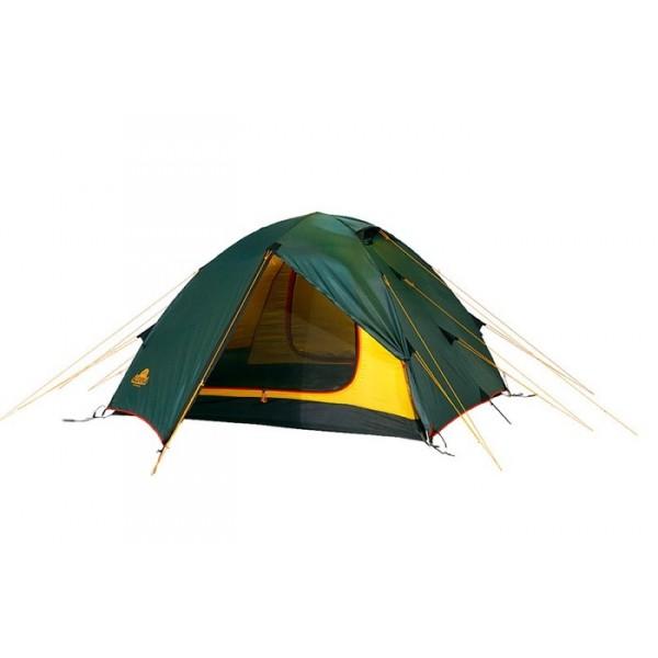 Палатка Alexika Rondo 2Туристическая палатка Alexika Rondo 2 - проверенная временем классика для пешего туризма. Продуманная конструкция, хорошее соотношение веса к размеру в чехле и высокий комфорт проживания. Палатка рассчитана на двух туристов, но при размещении «валетом» легко расположиться втроем. Палатка популярна: тысячи палаток этой модели защищают своих владельцев от дождя, снега и сильного ветра. Палатку можно использовать круглогодично, но следует избегать больших снеговых нагрузок.<br><br>Палатка легко собирается в течение 5-7 минут, а при растягивании всех ветровых оттяжек очень устойчива. Комфорт проживания обеспечивается двухслойной конструкцией палатки. Поток воздуха циркулирует в пространстве между внешним тентом и внутренней палаткой, испаряет конденсат, забирает продукты дыхания и выводит их через вентиляционную систему в верхней точке купола палатки. Также прослойка воздуха между внешним тентом и внутренней палаткой работает как термобарьер и спасает от резкого перепада температур.<br><br><br><br><br>Ткань тента палатки выдерживает давление более 4000 миллиметров водяного столба (новая палатка - более 10 000 мм). Это идеальная защита от дождя и снега.<br><br>Боковые оттяжки тента сделаны из эластичного шнура, чтобы уменьшить нагрузку при ветре и компенсировать натяжение при намокании тента.<br><br>Пропитка, задерживающая распространение огня.<br><br>Швы герметизированы термоусадочной лентой.<br><br>Узлы палатки, испытывающие высокие нагрузки, усилены более прочной тканью.<br><br>Край тента обшит прочной стропой.<br><br>Молния на внешнем тенте фиксируется алюминиевым крючком.<br><br>Внутренняя палатка оснащена москитной сеткой, карманами, четырьмя кольцами для фонаря и полочкой для мелких предметов.<br><br>Система вентиляции состоит из одного вентиляционного окна с ветровым клапаном, расположенного в верхней точке купола.<br><br>Стропа между внешним и внутренним тентом не дает соприкасаться внешнему и внутреннему тенту даже в сильный ветер.<br><br