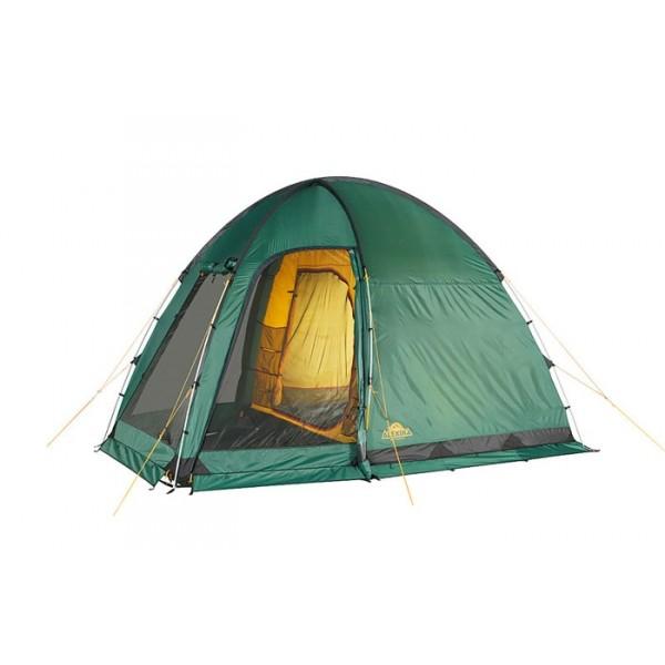Палатка Alexika Minnesota 3 Luxe AluТрехместная кемпинговая палатка MINNESOTA 3 LUXE ALU с просторным тамбуром - отличная модель для туристов, предпочитающих отправиться в путешествие компанией или семьей. Ее главная отличительная особенность – три отдельных входа, благодаря чему пользоваться палаткой очень удобно. Выбрав модель MINNESOTA 3 LUXE ALU, вы сможете отправляться в путешествие прохладной весной, жарким летом и дождливой осенью.<br><br>Вход в тамбур закрывается надежной антимоскитной сеткой, поэтому во время отдыха на природе комары вас не потревожат. Наличие внутренней палатки и довольно высокая ветроустройчивость способствуют весьма комфортному и спокойному отдыху. Палатка изготовлена из инновационного непромокаемого материала Polyester 185T и оснащена специальными заклепками, поэтому даже во время проливного ливня в нее не попадет ни одной капли воды.<br><br>Изготовленное из надежного материала Polyester 150D дно палатки не промокает, поэтому даже при установке этой модели на влажную землю спальные мешки останутся сухими. Крепкие стальные дуги палатки MINNESOTA 3 LUXE ALU не дадут ей упасть или изменить форму во время порывов ветра. Около одного из входов предусмотрен специальный тентованный навес, под которым можно поставить стол и складные стульчики и обедать в летний день, скрывшись от лучей солнца.<br><br>Вес кг: 10.20000000