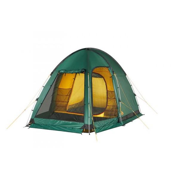 Палатка Alexika Minnesota 4 Luxe AluУдобная кемпинговая палатка MINNESOTA 4 LUXE ALU поможет сделать ваш отдых на природе удивительно комфортным. Просторное внутреннее пространство рассчитано на четырех человек, а три входа позволят отдыхающим пользоваться палаткой, не мешая друг другу.<br><br>MINNESOTA 4 LUXE ALU оснащена вместительным тамбуром, где отдыхающие могут укрыться от яркого солнца. Ночевать в этой палатке можно и весной, и знойным летом, и золотой осенью. Все входы защищены москитной сеткой, благодаря которой отдых у водоема или в лесу станет настоящим удовольствием – полчища насекомых не будут иметь ни малейшего шанса попасть к вам в гости. По периметру палатка защищена ветрозащитным пологом, в силу чего вас не будут беспокоить сквозняки, а во внутреннем пространстве будет сохраняться тепло.<br><br>Палатка для кемпинга MINNESOTA 4 LUXE ALU изготовлена из высококачественного материала. Для производства дна использована плотная не промокающая ткань, поэтому такую модель можно устанавливать даже на влажный грунт. Основная часть палатки выполнена из плотной тентованной ткани, покрытой специальным составом для предотвращения промокания. Во время ветров эта модель остается устойчивой благодаря мощным дугам, установленным в ее ребрах. Для проникновения во внутреннее пространство солнечного света боковые входы можно оставить открытыми, лишь затянув их москитной сеткой.<br><br><br>Пропитка, задерживающая распространение огня.<br><br>Швы герметизированы термоусадочной лентой.<br><br>Узлы палатки, испытывающие высокие нагрузки, усилены более прочной тканью.<br><br>Ветрозащитный полог (юбка) по периметру палатки прошит прочной стропой.<br><br>Молнии на внешнем тенте фиксируются алюминиевым крючком.<br><br>Внутренняя палатка оснащена противомоскитной сеткой, карманами, кольцом для фонаря.<br><br>Дополнительные стальные стойки для пологов дверей.<br><br>Дно для тамбура палатки.<br><br>Большой тамбур, для полевой кухни и вещей с большим окном из прозрачного материала 