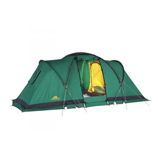 Палатка Alexika Indiana 4Популярная комфортабельная палатка из серии компакт-кемпинг. Палатка состоит из двух спален (2+2) и тамбура посередине. Высота тамбура 180 см. Конструкция палатки предполагает несколько вариантов использования внутреннего пространства, так как спальни независимо подвешиваются изнутри. Вы можете собрать две спальни или одну, разместив в оставшемся пространстве столовую или склад или оставить только внешний тент и использовать большое внутреннее пространство под кают-компанию.<br><br>Палатку INDIANA 4 легко установить даже в ветреную и дождливую погоду, так как сначала ставится внешний тент, а потом уже подвешиваются спальни, которые остаются сухими. Еще одно преимущество модели – компактность в сложенном виде. Палатка оснащена всеми необходимыми элементами кемпингового жилища. В ней предусмотрена противомоскитная сетка, система фильтрации, карманы, петля для фонарика. Благодаря герметизации швов внутрь палатки не попадет ни капли влаги. Кроме этого палатка отличается хорошей ветроустойчивостью. В комплекте предусмотрен съемный пол тамбура.<br><br><br><br><br><br><br>Пропитка, задерживающая распространение огня.<br><br>Швы герметизированы термоусадочной лентой.<br><br>Нагруженные элементы палатки усилены специальным материалом.<br><br>Ветрозащитный полог по периметру прошит прочной стропой.<br><br>Молнии на внешнем тенте фиксируются аллюминиевыми крючками.<br><br>Внутренняя палатка оснащена противомоскитной сеткой, карманами, петлей для фонаря.<br><br>Нижняя часть тента усилена защитной полосой из Oxford 150D.<br><br>Один входа в палатку с антимоскитной сеткой.<br><br>Эффективная система вентиляции состоит из вентиляционного гриба на куполе тента и трех боковых вентиляционных окон с антимоскитной сеткой и внешней шторкой на молнии.<br><br>Дополнительные стойки для пологов дверей. Удобный чехол с компрессионными ремнями.<br><br>Вес кг: 14.40000000