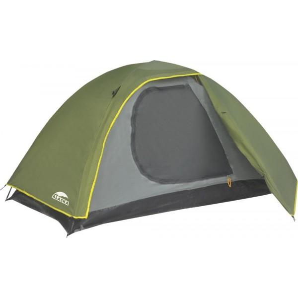 Палатка Alaska Trek 2Трекинговая палатка, 2-местная, внутренний каркас, дуги из стеклопластика, один вход / одна комната, невысокая водостойкость, вес: 2.08 кг<br>