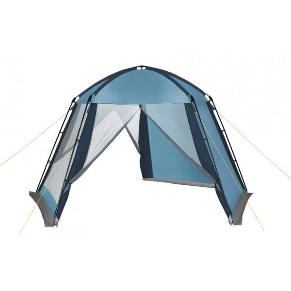 Тент-шатер Trek Planet Weekend DomeУстойчивый шатер пятиугольной формы Weekend Dome имеет огромное внутреннее пространство. Отлично подойдет, как дачный шатер, летняя столовая или беседка, а так же для длительного кемпинга на природе. Две стенки шатра выполнены из полиэстера и надежно защитят от ветра и дождя. Остальные стенки - из москитной сетки, благодаря этом шатер отлично проветривается и защищает от назойливых насекомых.<br><br>Устойчив на ветру,<br>Легко собирается и разбирается,<br>Две стороны шатра из полиэстера, с пропиткой PU водостойкостью 2000 мм надежно защищают от ветра и дождя,<br>Три другие стороны из москитной сетки позволяют шатру отлично проветриваться, защищая от насекомых.<br>Все швы проклеены,<br>Двери из москитной сетки в полный размер стороны с молнией по центру,<br>Каркас: боковые стойки из стали, потолочные дуги из прочного стеклопластика,<br>Прочные и удобные адаптеры для дуг со стойками,<br>Два входа в шатер,<br>Защитным полог по всему периметру защищает от ветра, дождя и насекомых,<br>Возможность подвески фонаря в палатке<br><br>Вес кг: 8.40000000