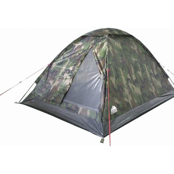Палатка Trek Planet Fisherman 3 трекинговаяТрехместная палатка Trek Planet Forester 3 благодаря камуфляжной расцветке отлично подойдет для охотников и рыболовов. Палатка имеет удобный тамбур для вещей, хорошую вентиляцию и прочный пол. Очень просто устанавливается. Оптимальна по цене.<br><br><br>Палатка легко и быстро устанавливается,<br><br>Тент палатки из полиэстера, с пропиткой PU водостойкостью 1000 мм, надежно защитит от дождя и ветра,<br><br>Все швы проклеены,<br><br>Каркас выполнен из прочного стеклопластика,<br><br>Дно изготовлено из прочного армированного полиэтилена,<br><br>Палатка оснащена вместительным и защищенным от непогоды тамбуром,<br><br>Вентиляционное окно сверху палатки не дает скапливаться конденсату на стенках палатки,<br><br>Москитная сетка на входе в спальное отделение в полный размер двери,<br><br>Удобная D-образная дверь на входе в палатку,<br><br>Внутренние карманы для мелочей,<br><br>Возможность подвески фонаря в палатке.<br><br>Для удобства транспортировки и хранения предусмотрен чехол с двумя ручками, закрывающийся на застежку-молнию.<br><br>Вес кг: 3.00000000