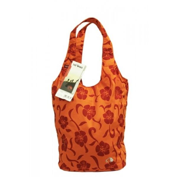 Сумка Tatonka Shopper orange flower для покупокНеобычная городская сумка. Выполнена из плотной водооталкивающей ткани оранжевого цвета с красными цветами. Надежно закрывается на молнию.<br><br>Вес кг: 0.20000000