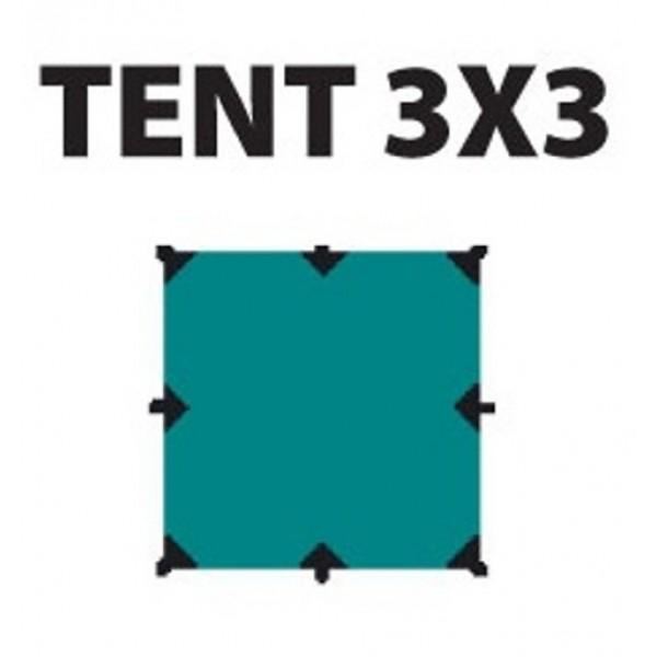 Тент Tramp TRT-100.04 размеры 3*3мТент полиэстер 3 х 3 м с оттяжками<br><br><br>Идеальная защита от дождя и солнца<br><br>Углы усилены вставками из прочной ткани<br><br>Полный комплект оттяжек<br>