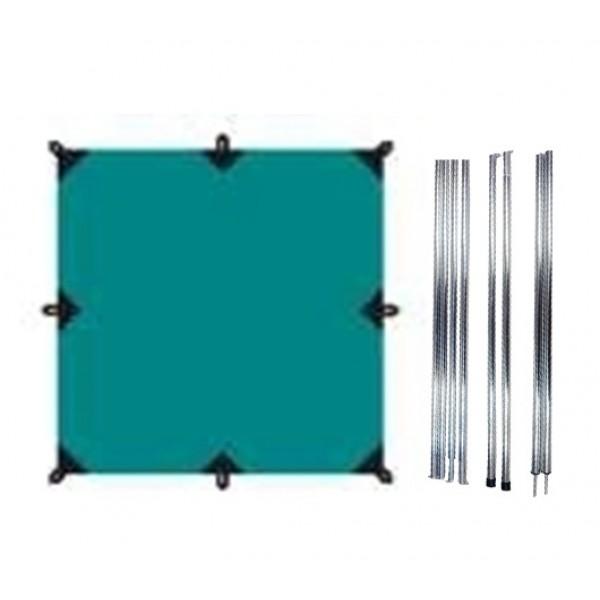 Тент Tramp TRT-104.04 размеры 3*3м со стойками 3м + оттяжкиТент Tramp GREEN 3 х 3 м со стойками<br>