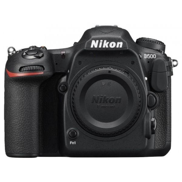 Фотоаппарат Nikon D500 body зеркальныйНепревзойденная мощность — гибкие возможности формата DX. Расширяйте возможности съемки с фотокамерой D500.<br><br>Фотокамера D500, младшая сестра флагманской модели Nikon D5 формата FX, демонстрирует непревзойденное сочетание мощности и точности. Разработанная корпорацией Nikon 153-точечная система АФ нового поколения позволяет работать в самых разных условиях съемки. Новая матрица и датчик для замера экспозиции обеспечивают исключительно точное распознавание объектов съемки и деталей изображения. Скорость съемки может составлять до 10 кадров в секунду, а быстрый буфер памяти позволяет снять до 200 изображений в формате NEF (RAW) в одной высокоскоростной серии. Сочетание этих двух факторов означает, что в течение 20 секунд вы можете получать изображения максимального качества. Для видеооператоров, стремящихся к совершенству, подойдет встроенный режим D-видео, благодаря которому прямо в фотокамере можно записывать видеоролики в формате 4K/UHD длительностью до 29 минут 59 секунд.<br><br>Вес кг: 0.80000000