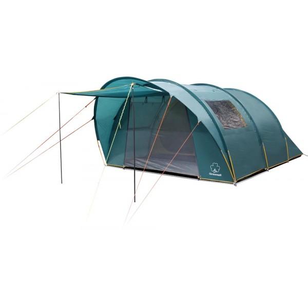Палатка Greenell Килкенни 5 v.2 кемпинговаяКемпинговая палатка Килкенни Greenell 5 V2 – это очень просторная модель, которая является оптимальным решением для отдыха большой компанией. Палатка легко вмещает пятерых человек. Просторный тамбур является отличным решением для хранения снаряжения, может быть использован в качестве места для отдыха, мини столовой. Эффективная система вентиляции предотвращает появление конденсата на стенках. Плотная ткань не пропускает влагу, ветрозащитная юбка и проклеенные швы гарантируют надежную защиту от ветра. Большие окна по всей длине изделия пропускают солнечный свет, что делает палатку уютной. Антимоскитные сетки расположенные на входе защищают от кровососущих насекомых. Тент можно установить отдельно от палатки, что особенно актуально в теплую погоду.<br><br>Вес кг: 14.90000000