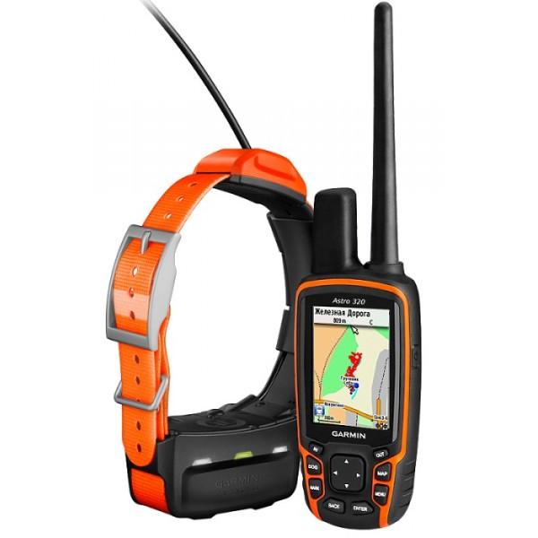 Навигатор Garmin Astro 320 с ошейником T5Прибор Astro представляет собой совершенную систему слежения за охотничьими собаками со встроенным высокочувствительным GPS-приемником. Эта уникальная система определяет точное местоположение вашей собаки, и вы всегда будете знать, где она находится, даже в тех случаях, когда не можете ее увидеть или услышать. Новое портативное устройство Astro 320 с GPS-приемником включает именно те функции, которые нужны охотникам, - увеличенная дальность действия, упрощенный интерфейс пользователя и картография.<br><br>Система Astro включает в себя доработанный прибор Astro 320 и ошейник T5 с передатчиком. Этот ошейник может использоваться для крепления большинства приемников, чтобы вам не приходилось надевать на собаку два отдельных ошейника. Кроме того, в системе используется защитная функция Collar Lock, которая создает 4-значный PIN-код, чтобы другие пользователи не могли просматривать информацию о вашей собаке. Эта функция полезна во время соревнований, когда прибор Astro может быть использован только для поиска потерявшейся собаки. Для начала работы вынесите устройство Astro на улицу и включите прибор и передатчик для приема сигналов со спутников GPS. Затем закрепите T5 на собаке. Система готова к работе – никаких дополнительных настроек не требуется.<br><br><br>Технология HotFix® и высокочувствительный приемник для получения спутниковых сигналов<br><br>Улучшенная базовая карта с цифровой моделью рельефа<br><br>Возможность использования дополнительной картографии - топографические карты, BirdsEye Satellite Imagery (спутниковые изображения), пользовательские карты, карты дорог, BlueChart® g2 (морские карты) и т. д. (покупается отдельно)<br><br>Возможность настройки длины трека собаки<br><br>Быстрое уменьшение и увеличение масштаба для поиска собаки<br><br>Трек содержит до 10,000 точек (для одной собаки) для обеспечения точной записи данных<br><br>Использование повсеместно принятого формата файла GPX для хранения всех данных<br><br>Фун