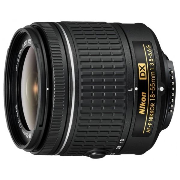 Объектив Nikon 18-55mm f/3.5-5.6G AF-P DXСтандартный Zoom-объектив, <br>адаптирован для видеосъемки, <br>крепление Nikon F, встроенный мотор, <br>для неполнокадровых фотоаппаратов, <br>автоматическая фокусировка, <br>минимальное расстояние фокусировки 0.25 м, <br>вес: 195 г<br><br>Вес кг: 0.30000000