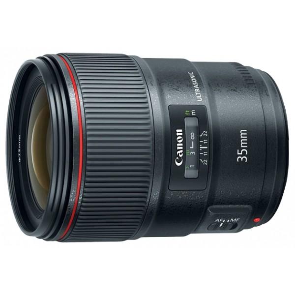 Объектив Canon EF 35mm f/1.4L II USMШирокоугольный объектив с постоянным ФР, <br>крепление Canon EF и EF-S, <br>автоматическая фокусировка, <br>минимальное расстояние фокусировки 0.28 м, <br>размеры (DхL): 80x106 мм, <br>вес: 760 г<br><br>Вес кг: 0.80000000
