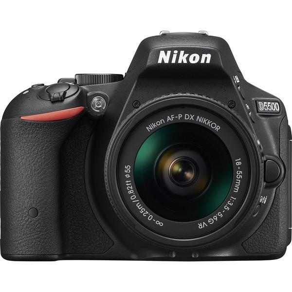 Фотоаппарат Nikon D5500 Kit 18-55 VR AF-P зеркальныйОтобразите красоту окружающего мира на великолепных фотографиях, снятых с помощью фотокамеры D5500. Эта легкая и компактная, но в то же время очень мощная цифровая зеркальная фотокамера с удобным и понятным сенсорным управлением позволяет совершенствоваться в искусстве фотографии.<br><br>Модель D5500 обеспечивает отличный результат как при съемке быстро движущихся объектов, так и при работе в условиях недостаточного освещения. Даже если фотографии и видеоролики будут напечатаны крупным форматом либо же выведены на большой экран, они достоверно и в мельчайших подробностях отобразят ваше видение мира.<br><br>Высокочувствительный сенсорный экран с переменным углом наклона совместно с интуитивно понятным интерфейсом упрощают управление фотокамерой, а встроенный модуль Wi-Fi дает возможность быстро передавать качественные фотографии на интеллектуальное устройство. Это исключительно удобная и компактная цифровая зеркальная фотокамера, которая поможет вам достичь совершенства в искусстве фотографии.<br><br>Вес кг: 0.50000000