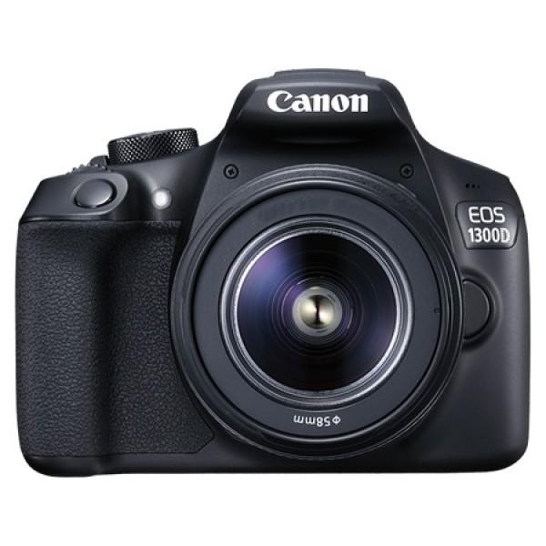 Фотоаппарат Canon EOS 1300D Kit 18-135 STM Зеркальный18,0-мегапиксельная камера EOS 1300D позволяет легко получать отличные фотографии и видео Full HD в кинематографическом качестве. Мгновенная отправка фотографий и видео с помощью Wi-Fi и простое подключение к мобильному устройству по NFC (при использовании с совместимыми устройствами Android с поддержкой NFC)<br><br>Создавайте превосходные изображения с высокой детализацией благодаря большому 18-мегапиксельному датчику изображения размера APS-C. Распечатывайте изображения даже в формате A2 или креативно обрезайте их без потери качества<br><br>Снимайте великолепные фотографии без вспышки даже при слабом освещении, чтобы передать истинную атмосферу сцены. Диапазон чувствительности EOS 1300D составляет ISO 100–6400 (с возможностью увеличения до ISO 12800), что позволяет добиться естественного отображения на каждом снимке.<br><br>Снимайте потрясающие портреты, используя малую глубину резкости, которая характерна для съемки цифровой зеркальной камерой и позволяет создавать эффектные фотографии, выделяя объект съемки на красиво размытом заднем плане.<br><br>Создавайте изображения с высокой детализацией и точной передачей цвета и контрастности благодаря возможностям процессора DIGIC 4+<br><br>Поэкспериментируйте с творческими фильтрами, такими как «Игрушечная камера» и «Миниатюра», которые помогут добавить снимкам новое настроение и дополнительный оригинальный эффект<br><br>Снимайте видео Full HD в превосходном кинематографическом качестве с высочайшей детализацией благодаря управлению глубиной резкости, которое позволяет выделить объект на переднем плане и создать красивое размытие заднего плана.<br><br>Создавайте отличные снимки и не беспокойтесь о настройках, позволив интеллектуальному сценарному режиму выполнить всю работу за вас; а когда будете готовы — возьмите управление настройками камеры полностью или частично на себя.<br><br>Вы никогда не упустите решающий момент благодаря быстрой и точной автофокусировке и ско
