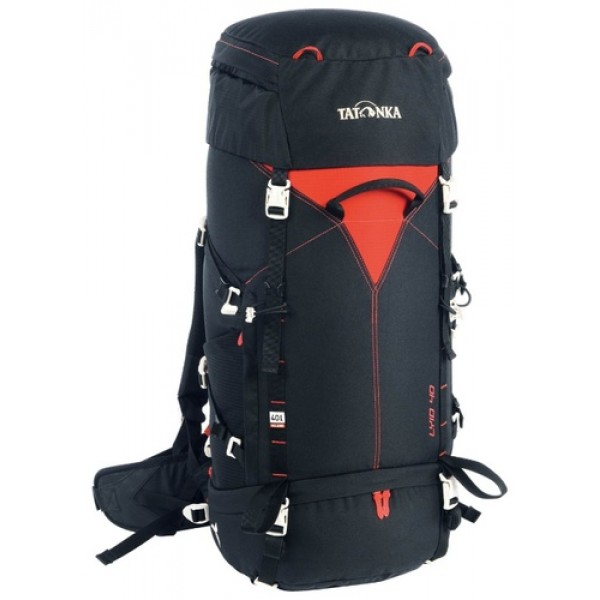 Рюкзак Tatonka Lyid 40 blackУдобный туристический рюкзак для девушек. Система X Light Vario позволяет оптимально разместить рюкзак на спине и настроить его под свои параметры.<br><br><br>Несущая система X Light Vario<br><br>Держатели ледоруба<br><br>Мягкие плечевые лямки анатомической формы: имеют специальный изгиб<br><br>Удобный регулируемый поясной ремень<br><br>Регулируемый нагрудный ремень<br><br>Боковые стяжки для регулировки объема<br><br>Нижние стяжки под днищем<br><br>Передняя и задняя ручки<br><br>Регулируемая по высоте крышка рюкзака<br><br>Крючок для ключей в крышке рюкзака<br><br>Дождевой чехол<br><br>Боковой доступ в основное отделение<br><br>Боковые сетчатые карманы<br><br>Выход для питьевой системы<br><br>Верхнее и нижнее отделения разделены отстегивающимся клапаном<br><br>Вес кг: 1.70000000