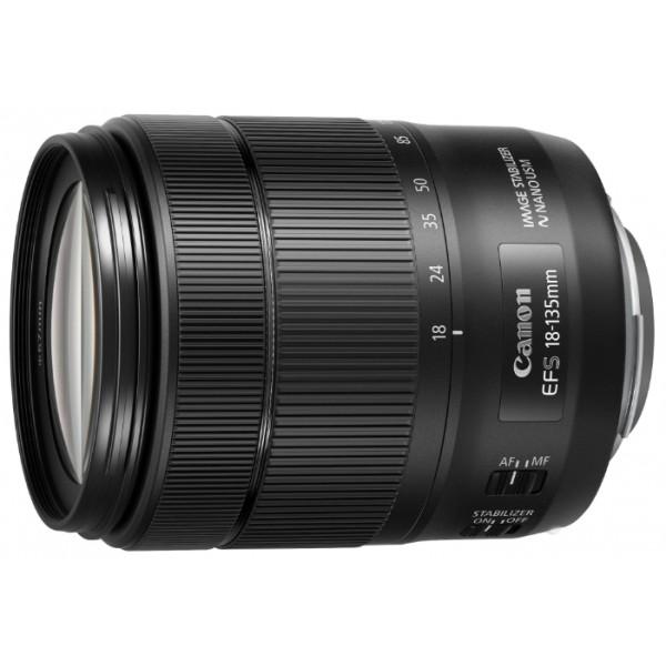 Объектив Canon EF-S 18-135mm F/3.5-5.6 IS USMЭтот высококачественный зум-объектив EF-S с диапазоном фокусных расстояний 18–135 мм имеет широкое применение и идеально подходит для фото- и видеосъемки. Используйте этот компактный объектив, который может стать идеальным помощником в путешествии, для съемки самых разнообразных сюжетов –– от эффектных пейзажей и прекрасных портретов до высокодинамичных сцен.<br><br>Вес кг: 0.55000000