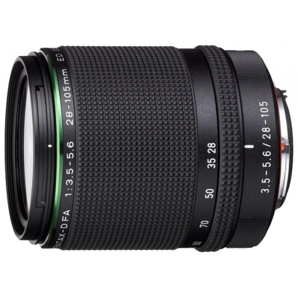 Объектив Pentax FA 28-105mm f/3.5-5.6 D ED DC HD WRВлагозащищенный зум-объектив HD PENTAX-D FA 28-105mm F3.5-5.6ED DC WR охватывает наиболее популярный диапазон фокусных расстояний от широкоугольного до умеренного теле, обеспечивая владельца полнокадровой зеркальной камеры PENTAX универсальным инструментом для съемки подавляющего большинства сюжетов: пейзажи, интерьер, портреты, предметная съемка, стрит-фотография. Объектив отличеет компактность, высокое качество оптики и исключительная надежность, благодаря погодозащищенной конструкции.<br><br>При работе в связке с зеркальной цифровой полнокадровой камерой, фокусные расстояния объектива будет варьироваться от широкоугольного 28 мм до умеренного теледиапазона 105 мм. Использование как инновационных, так и наработанных годами оптических технологий, позволили инженерам PENTAX и RICOH создать великолепный объектив, который отличает высокая четкостью, контрастность и резкость изображения по всему полю кадра размером 24х36 мм, а также минимальный уровень различного рода аберраций. Компактность, легкость и соотношение цена/качество создают полнокадровой фотокамере PENTAX отличного компаньона на каждый день!<br><br>Оптическая схема объектива состоит из 15 элементов в 11 группах и включает в себя два асферических элемента, один элемент из стекла со сверхнизкой дисперсией (ED) и один оптический элемент из стекла со супернизкой дисперсией, за счет чего уменьшаются сферические и хроматические аберрации, а также обеспечивается высокая резкость изображения. Выверенная оптическая схема нового объектива обеспечивает великолепное разрешение и контраст, раскрывая потенциал матриц большой площади с большим количеством пикселей.<br><br>Вес кг: 0.44000000