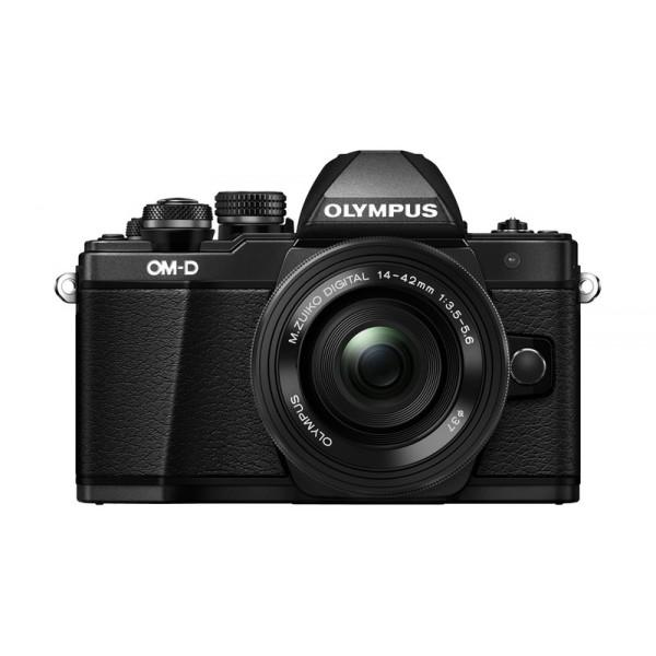 Фотоаппарат Olympus OM-D E-M10 Mark II Kit 14-42mm EZ Black со сменной оптикойВнешний вид этой камеры напоминает нам самую первую модель ОМ-1, но при этом она оснащена большим количеством необходимых функций, которые помогут опытным фотолюбителям совершенствовать свое мастерство, а начинающим помогут быстро понять и освоить основы фотографии. C Olympus ОM-D E-M10 Mark II вы не упустите ни одного важного момента.<br><br>Новая системная камера OM-D E-M10 Mark II уникальна тем, что она ориентирована на фотографов, которые ценят не только скорость работы камеры и возможность без проблем делать спонтанные кадры «навскидку», но и классический дизайн! Органы управления новинки напоминают привычные переключатели пленочных камер. Но в данной модели их использование в сочетании с современными цифровыми возможностями камеры доведено до совершенства!<br><br>Камера E-M10 Mark II предлагает пользователю большой безынерционный электронный OLED-видоискатель высокого разрешения (более 2 МП), поворотный 3-дюймовый сенсорный дисплей, Time Lapse c ультравысоким разрешением 4k, публикацию фотографий и удаленное управление всеми функциями камеры с помощью смартфона (с Olympus OI.Share), и массу других оригинальных функций, выгодно выделяющих серию данных камер на фоне конкурентов.<br><br>В условиях низкой освещенности и при съемке в движении раскрывает весь свой потенциал не имеющий мировых аналогов по эффективности работы 5-осевой стабилизатор изображения. Он позволяет устранить размытие, вызываемое «подёргиванием» камеры в руках, практически в любой ситуации: от сдвигов при макросъемке до угловых смещений при работе с телеобъективами или ночной съемке. Не требуется отключать его и при работе со штатива или монопода.<br><br>5-осеовой стабилизатор изображения работает независимо от используемого объектива и обеспечивает отличную компенсацию выдержек при съемке «с рук» до 4 ступеней экспозиции. Даже если вы снимаете одной рукой, вы получите плавные видеоролики и четкие фотоснимки без разм