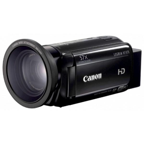 Видеокамера Canon LEGRIA HF R78С помощью видеокамеры Canon LEGRIA HF R78 Вы можете снимать видео в более широком диапазоне благодаря универсальному зум-объективу 57x с широкоугольной насадкой и мощными технологиями, которые улучшают качество изображения без лишних усилий. Функции Wi-Fi и NFC позволяют легко обмениваться видео.<br><br><br>Записывайте ценные моменты и обменивайтесь ими без лишних усилий<br><br>Мощные технологии для превосходного качества видеозаписей<br><br>Легко создавайте творческие видеоролики<br><br>Превосходный звук, оптимизированный для снимаемого эпизода<br><br>Вес кг: 0.25000000