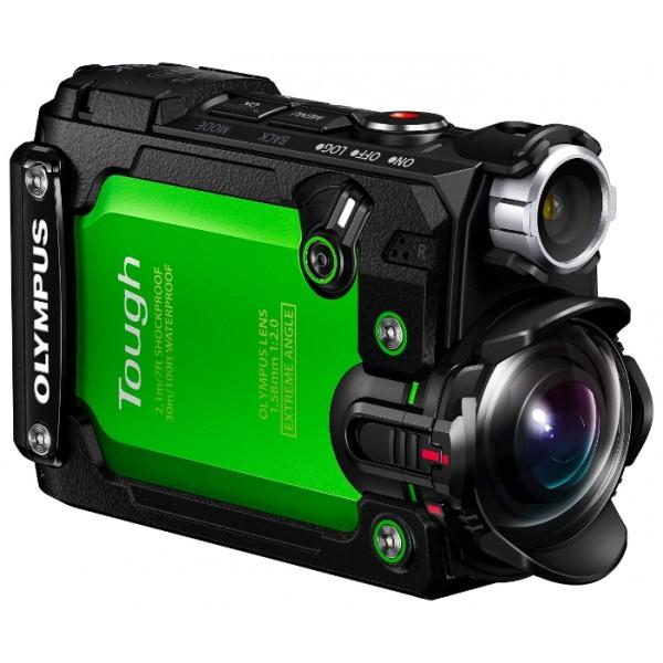 Экшн камера OLYMPUS Tough TG-TrackerOLYMPUS Tough TG-Tracker - непревзойденная камера для любых испытаний<br><br>Взобраться на вершину горы, покорить волну в океане - с этими задачами тебе поможет справиться TG-Tracker. Это надежная, простая в обращении экшн-камера, которая позволит тебе снять яркие ролики и фотографии в самых экстремальных условиях.<br><br>4K видео, мощный процессор обработки изображений, 5-осевая стабилизация и ультраширокоугольный объектив - это лишь те из возможностей, которые помогут тебе запечатлеть уникальные моменты жизни. TG-Tracker обеспечивает исключительную производительность в съемке видео без сложных элементов управления, так что ты можешь сосредоточиться на захватывающем событии.<br><br>Водонепроницаемая до 30 м, морозостойкая до -10 ° C, ударопрочная до 2,1 м, выдерживает давление до 100 кг - новая экшн-камера TG-Tracker предназначена для съемки в самых суровых условиях. Прочная конструкция и известная система уплотнения OLYMPUS обеспечивают впечатляющую прочность и водонепроницаемость камеры.<br><br>С Five-sensor при съемке видео камера фиксирует все, что ты видишь, записываешь и чувствуешь! GPS, компас, датчик ускорения, барометр и термометр отслеживают действия, делая твои приключения еще более запоминающимися. Идеально подходит для отслеживания маршрута передвижения твоих захватывающих приключений.<br><br>Копировать фотографии или видеоклипы и записывать свои данные можно с помощью приложения OI.Track. Отслеживайте свои действия и получайте больше информации о фото и видео сделанных в экстремальных условиях. С бесплатным приложением OI.Share вы можете легко импортировать свои снимки на телефон и делиться ими в соц.сетях. Или использовать телефон в качестве пульта дистанционного управления для настройки параметров TG-Tracker и видео съемки.<br><br>Съемка видео в 4K и ультраширокоугольный объектив позволят запечатлеть всю сцену в деталях. Ультраширокоугольный объектив с полным углом охвата 204° позволит тебе повторно пережить испыт