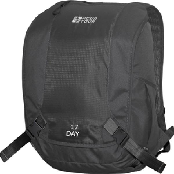 Рюкзак Nova Tour Дэй 17 черныйРюкзак классического стиля. В нем есть весь необходимый функционал, чтобы чувствовать себя комфортно в городском ритме жизни. Отделение под ноутбук, органайзер, карман для очков, карабин для ключей.<br><br>Вес кг: 0.60000000