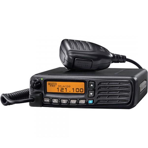 Радиостанция Icom IC-A120Icom IC-A120 — авиационная радиостанция высокой производительности с активным шумоподавлением и беспроводной связью Bluetooth. Полноматричный ЖК-дисплей позволяет добиться высокой четкости отображения буквенно-цифровых символов и значков. Программирование каналов памяти и другие настройки радиостанции авиационного диапазона можно осуществлять прямо с передней панели. В зависимости от настроек радиостанции эти функции могут быть ограничены.<br><br>Стационарная авиа радиостанция Icom IC-A120 может использоваться со сторонней беспроводной bluetooth-гарнитурой благодаря дополнительному модулю Bluetooth. Также с применением мини-гарнитуры Bluetooth доступна функция местного эффекта. Новая опция встроенного активного шумоподавления позволяет уменьшить фоновый шум при приеме-передаче сигналов. Эта функция эффективна в чрезвычайно шумных условиях аэропорта. Автоматический ограничитель шума снижает уровень импульсного шума, например зажигания двигателя. Функции активного шумоподавления и автоматического ограничителя шума не могут быть использованы одновременно.<br><br>Авиационная радиостанция Icom IC-A120 имеет класс IP54 защиты от пыли и воды. Эта конструкция позволяет использование в открытых транспортных средствах. Функция сканирования автоматически начинает сканировать, когда ручной микрофон повешен на держатель микрофона. Опция режима двойного приема проверяет приоритет и рабочие каналы в качестве альтернативы при положенной трубке. Когда Вы снимаете микрофон с держателя, то сканирование останавливается на приоритетном канале или отображаемом канале (согласно запрограммированной задаче).<br><br>При использовании сторонней гарнитуры с дополнительным адаптером гарнитуры, функция местного эффекта позволяет Вам контролировать передачу Вашего голоса через подключенную гарнитуру, даже при использовании ручного микрофона.<br><br>Вес кг: 1.50000000