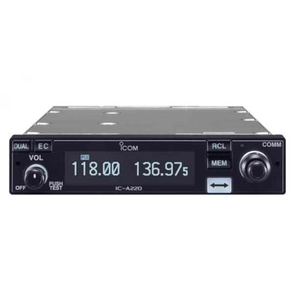 Радиостанция Icom IC-A220 АвиаIcom IC-A220 — авиационная бортовая рация Icom с дистанционным управлением и возможностью блокировки элементов управления во избежание отдачи нежелательных команд. Радиостанция программируется с ПК, имеет отдельные и сгруппированные каналы с возможность наименования (6 символов). Выходная мощность радиостанции достигает 8 Вт. В функционал рации входит шумоподавление (с проверкой), сканирование, прием погодных сообщений. Корпус радиостанции оснащен крупным монохромным дисплеем с хорошо различимыми в темноте цифрами. Клавиши управления рацией крупные, с удобным расположением.<br><br>Вес кг: 1.00000000