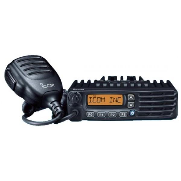 Радиостанция Icom IC-F5123D АвтоПрофессиональная автомобильная рация IC-F5123D работает на частоте 136-174 MHz, имеет выходную мощность 50W, 128 каналов в 8 банках. Совместимость с MDC1200, поддержка режима работы IDAS, восьмисимвольный ЖК-дисплей, возможность подключения GPS приемника.<br><br>8-символьный буквенно-цифровой ЖК-дисплей радиостанции Icom IC-F5123D с удобным иконками показывает различную информацию, такую как имя вызывающего абонента, полученное сообщение и т.д. Возможность выбора шага каналов из трех значений: 25, 12.5 или 6.25 кГц позволяет обеспечить совместимость данной аппаратуры с различными системами радиосвязи.<br><br>Для быстрого доступа к часто используемым функциям можно запрограммировать кнопки P0-P3. Кнопки и ЖК-дисплей имеют подсветку.<br><br>Фронтальный динамик с мощностью 4 Вт обеспечивает четкий и громкий звук во всей кабине автомобиля.<br><br>Немаловажной чертой радиостанций IC-F5123D является поддержка режима работы IDAS<br><br>Вес кг: 1.10000000