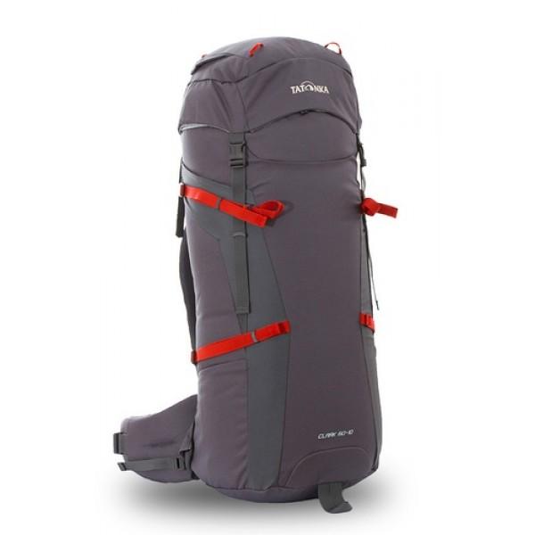 Рюкзак Tatonka Clark 60+10 titan greyРюкзак Clark 60+10 выполенен в строгом дизайне из прочной ткани Textreme 6.6. Одно просторное отделение позволит с удобством разместить все необходимые в походе или путешествии вещи. Засчет объемной крышки и расширяющегося основного отделения объем рюкзака достигает 70 литров. Прочная удобная спина рюкзака выполнена с учетом анатомических особенностей спины человека, благодаря этому с рюкзаком будет комфортно идти даже в продолжительном походе.<br><br><br>Система подвески Y1<br><br>Одно основное отделение, уведичивающееся в объеме в верхней части<br><br>Объемная крышка рюкзака с крючком для ключей<br><br>4 петли на крышке<br><br>Крышка рюкзака регулируется по высоте (до 25 см выше стандартного положения)<br><br>Затяжка внутреннего отделения на один или два шнура, в зависимости от объема заполнения<br><br>4 боковые затяжки позволяют регулировать объем<br><br>Петли для крепления треккинговых палок<br><br>Два боковых просторных кармана<br><br>Широкий плотный набедренный пояс с двумя параметрами регулировки (по ширине и степени прилегания к рюкзаку)<br><br>Регулировка спины рюкзака позволяет отрегулировать высоту лямок, натяжение лямок относительно спины рюкзака<br><br>Спина рюкзака выполнена с учетом анатомических особенностей спины человека<br><br>Сетчатые элементы в спине и набедренном поясе позволяют обеспечить вентиляцицю в жаркую погоду<br><br>Регулируемый по ширине и высоте нагрудный ремень<br><br>В нагрудный ремень вшита резинка для комфорта движения<br><br>Прочная ручка для переноски и помощи при надевании рюкзака<br><br>Вес кг: 2.30000000