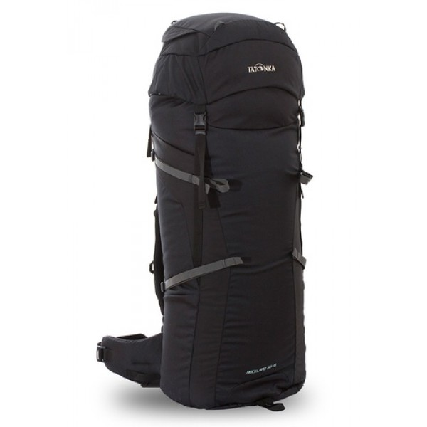 Рюкзак Tatonka Rockland 90+15 blackУниверсальный рюкзак Rockland 90+15 выполенен в строгом дизайне из прочной ткани Textreme 6.6. Одно просторное отделение позволит с удобством разместить все необходимые в походе или путешествии вещи. Засчет объемной крышки и расширяющегося основного отделения объем рюкзака достигает 105 литров. Прочная удобная спина рюкзака выполнена с учетом анатомических особенностей спины человека, благодаря этому с рюкзаком будет комфортно идти даже в продолжительном походе.<br><br><br>Система подвески Y1<br><br>Одно основное отделение, увеличивающееся в верхней части<br><br>Объемная крышка рюкзака с крючком для ключей<br><br>4 петли на крышке<br><br>Крышка рюкзака регулируется по высоте (до 25 см выше стандартного положения)<br><br>Затяжка внутреннего отделения на один или два шнура, в зависимости от объема заполнения<br><br>4 боковые затяжки позволяют регулировать объем<br><br>Петли для крепления треккинговых палок<br><br>Два боковых просторных кармана<br><br>Широкий плотный набедренный пояс с двумя параметрами регулировки (по ширине и степени прилегания к рюкзаку)<br><br>Регулировка спины рюкзака позволяет отрегулировать высоту лямок, натяжение лямок относительно спины рюкзака<br><br>Спина рюкзака выполнена с учетом анатомических особенностей спины человека<br><br>Сетчатые элементы в спине и набедренном поясе позволяют обеспечить вентиляцицю в жаркую погоду<br><br>Регулируемый по ширине и высоте нагрудный ремень<br><br>В нагрудный ремень вшита резинка для комфорта движения<br><br>Прочная ручка для переноски и помощи при надевании рюкзака<br><br>Вес кг: 2.45000000