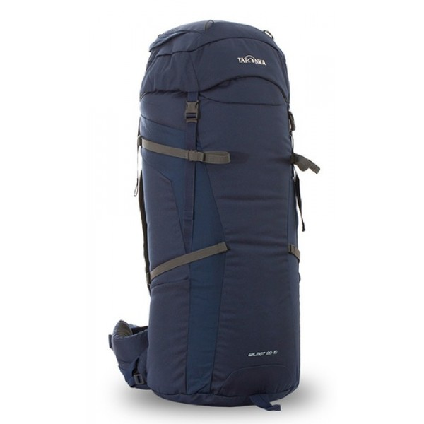 Рюкзак Tatonka Wilmot 80+10 navyУниверсальный рюкзак Wilmot 80+10 выполенен в строгом дизайне из прочной ткани Textreme 6.6. Одно просторное отделение позволит с удобством разместить все необходимые в походе или путешествии вещи. Засчет объемной крышки и расширяющегося основного отделения объем рюкзака достигает 90 литров. Прочная удобная спина рюкзака выполнена с учетом анатомических особенностей спины человека, благодаря этому с рюкзаком будет комфортно идти даже в продолжительном походе.<br><br><br>Система подвески Y1<br><br>Одно основное отделение, увеличивающееся в верхней части<br><br>Объемная крышка рюкзака с крючком для ключей<br><br>4 петли на крышке<br><br>Крышка рюкзака регулируется по высоте (до 25 см выше стандартного положения)<br><br>Затяжка внутреннего отделения на один или два шнура, в зависимости от объема заполнения<br><br>4 боковые затяжки позволяют регулировать объем<br><br>Петли для крепления треккинговых палок<br><br>Два боковых просторных кармана<br><br>Широкий плотный набедренный пояс с двумя параметрами регулировки (по ширине и степени прилегания к рюкзаку)<br><br>Регулировка спины рюкзака позволяет отрегулировать высоту лямок, натяжение лямок относительно спины рюкзака<br><br>Спина рюкзака выполнена с учетом анатомических особенностей спины человека<br><br>Сетчатые элементы в спине и набедренном поясе позволяют обеспечить вентиляцицю в жаркую погоду<br><br>Регулируемый по ширине и высоте нагрудный ремень<br><br>В нагрудный ремень вшита резинка для комфорта движения<br><br>Прочная ручка для переноски и помощи при надевании рюкзака<br><br>Вес кг: 0.40000000