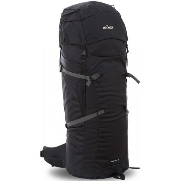 Рюкзак Tatonka Ymir 100+15 blackУниверсальный рюкзак Ymir 100+15 выполенен в строгом дизайне из прочной ткани Textreme 6.6. Одно просторное отделение позволит с удобством разместить все необходимые в походе или путешествии вещи. Засчет объемной крышки и расширяющегося основного отделения объем рюкзака достигает 115 литров. Прочная удобная спина рюкзака выполнена с учетом анатомических особенностей спины человека, благодаря этому с рюкзаком будет комфортно идти даже в продолжительном походе.<br><br><br>Система подвески Y1<br><br>Одно основное отделение, увеличивающееся в верхней части<br><br>Объемная крышка рюкзака с крючком для ключей<br><br>4 петли на крышке<br><br>Крышка рюкзака регулируется по высоте (до 25 см выше стандартного положения)<br><br>Затяжка внутреннего отделения на один или два шнура, в зависимости от объема заполнения<br><br>4 боковые затяжки позволяют регулировать объем<br><br>Петли для крепления треккинговых палок<br><br>Два боковых просторных кармана<br><br>Широкий плотный набедренный пояс с двумя параметрами регулировки (по ширине и степени прилегания к рюкзаку)<br><br>Регулировка спины рюкзака позволяет отрегулировать высоту лямок, натяжение лямок относительно спины рюкзака<br><br>Спина рюкзака выполнена с учетом анатомических особенностей спины человека<br><br>Сетчатые элементы в спине и набедренном поясе позволяют обеспечить вентиляцицю в жаркую погоду<br><br>Регулируемый по ширине и высоте нагрудный ремень<br><br>В нагрудный ремень вшита резинка для комфорта движения<br><br>Прочная ручка для переноски и помощи при надевании рюкзака<br><br>Вес кг: 2.70000000
