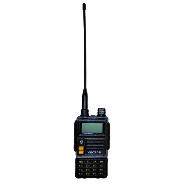 Радиостанция Vector VT-43 H2 ДвухдиапазоннаяСовременная двухдиапазонная радиостанция Vector VT-43 H2 для общения в частотных диапазонах VHF 136-174 МГц и UHF 400-470 МГц с выходной мощностью до 5 Ватт и возможностью выбора низкого уровня излучения 1 Ватт. Высокое качество, широкий функционал, многострочный информативный дисплей, удобное управление - всё это в надёжном корпусе и по привлекательной цене!<br><br>Корпус Vector VT-43 H2 выполнен из прочного полимерного материала, оснащён полноценной клавиатурой, с помощью которой возможен прямой ввод необходимой частоты и управление всем функционалом на лету. Удобная система меню обеспечивает быстрый доступ к необходимым функциям - настройкам тонового и цифрового шумоподавления CTCSS/DCS, выбору уровня выходной мощности, настройкам репитерного сдвига, выбору широкой и узкой полосы пропускания, шага сетки частот, настройке уровня порогового шумоподавления, установкам режима голосовой активации VOX (при работе с гарнитурой), выбору режима сканирования и ко всем другим настройкам приёмо-передатчика.<br><br>В рацию Vector VT-43 H2 встроено множество каналов памяти, с помощью которых можно организовать быстрый доступ и переключение между частоиспользуемыми частотами. Литий-Ионный (Li-Ion) аккумулятор повышенной ёмкости обеспечит длительное время автономной работы радиостанции.<br><br>Вес кг: 0.50000000