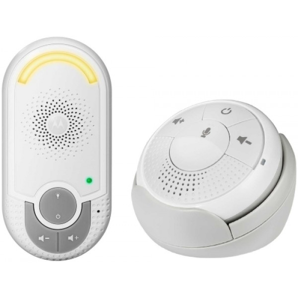 Радионяня Motorola MBP140Цифровая беспроводная радионяня MBP140 представляет собой беспроводное устройство наблюдения за ребенком, которое является прекрасным помощником для родителей. Двусторонняя радионяня Motorola MBP140 специально разработана для удобства родителей. Родительский блок имеет подставку с функцией зарядки.<br><br><br>Беспроводная технология связи ДЕКТ, 1,8ГГц<br><br>Компактный родительский блок<br><br>Сигнал о выходе из зоны действия сети<br><br>Функция обратной связи при помощи одной кнопки<br><br>Высокочувствительный микрофон<br><br>Регулировка громкости<br><br>Ночник<br>