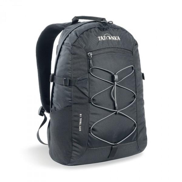 Рюкзак Tatonka City Trail 19 blackCity Trail 19 идеален для ежедневного использования. Спинка Vent Comfort Back System обеспечит вентиляцию даже в жаркий день. Рюкзак оснащен прилегающим к спине карманом для ноутбука 15,4 дюйма. Карман не доходит до дна рюкзака, таким образом, даже если неаккуратно поставить рюкзак на пол, ноутбук будет в сохранности. Основное отделение закрывается на молнию с двумя бегунками. Эластичная стропа по центру рюкзака позволяет закрепить велошлем или куртку.<br><br><br>Спинка Vent Comfort<br><br>Регулируемый нагрудный ремень<br><br>Компрессионные боковые стропы<br><br>Ручка для переноски<br><br>Удобные лямки анатомической формы<br><br>Крючок для ключей<br><br>Петля для крепления фонаря<br><br>Боковые сетчатые карманы<br><br>Центральный карман на молнии<br><br>Карман для ноутбука<br><br>Зигзагообразная стропа в центральной части<br><br>Небольшой внутренний карман в основном отделении<br><br>Вес кг: 0.56000000
