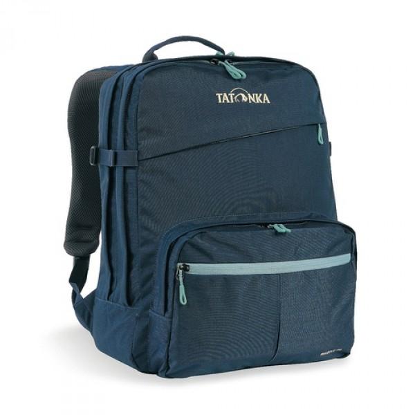 Рюкзак Tatonka Magpie 24 navyMagpie - городской рюкзак для учебы или работы, оснащен двумя отделенями и специальным плотным отделением для ноутбука 15,4 дюйма. Спереди расположен накладной карман с органайзером. Спинка рюкзака плотная - Padded Back. Лямки мягкие засчет мягких вставок. Рюкзак выполнен из ткани Cordura, прочной и износостойкой.<br><br><br>Система подвески Padded Back<br><br>Эргономичные плечевые лямки<br><br>Нагруднй ремень регулируется по высоте и ширине<br><br>Возможность крепления поясного ремня<br><br>Компрессионные стропы<br><br>Ручка для переноски<br><br>Два основных отделения<br><br>Уплотненное дно<br><br>Передний карман с органайзером и карманом для смартфона<br><br>Отделение для ноутбука (не у дна)<br><br>Держатель для ключей<br><br>Вес кг: 0.74000000