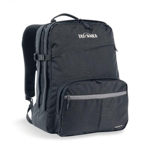 Рюкзак Tatonka Magpie 24 blackMagpie - городской рюкзак для учебы или работы, оснащен двумя отделенями и специальным плотным отделением для ноутбука 15,4 дюйма. Спереди расположен накладной карман с органайзером. Спинка рюкзака плотная - Padded Back. Лямки мягкие засчет мягких вставок. Рюкзак выполнен из ткани Cordura, прочной и износостойкой.<br><br><br>Система подвески Padded Back<br><br>Эргономичные плечевые лямки<br><br>Нагруднй ремень регулируется по высоте и ширине<br><br>Возможность крепления поясного ремня<br><br>Компрессионные стропы<br><br>Ручка для переноски<br><br>Два основных отделения<br><br>Уплотненное дно<br><br>Передний карман с органайзером и карманом для смартфона<br><br>Отделение для ноутбука (не у дна)<br><br>Держатель для ключей<br><br>Вес кг: 0.74000000