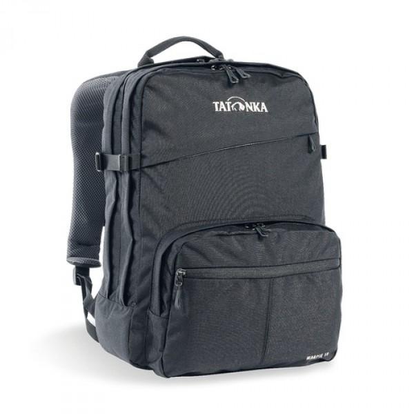 Рюкзак Tatonka Magpie 19 blackMagpie - городской рюкзак для учебы или работы, оснащен двумя отделенями и специальным плотным отделением для ноутбука 15,4 дюйма. Спереди расположен накладной карман с органайзером. Спинка рюкзака плотная - Padded Back. Лямки мягкие засчет мягких вставок. Рюкзак выполнен из ткани Cordura, прочной и износостойкой.<br><br><br>Система подвески Padded Back<br><br>Эргономичные плечевые лямки<br><br>Нагруднй ремень регулируется по высоте и ширине<br><br>Возможность крепления поясного ремня<br><br>Компрессионные стропы<br><br>Ручка для переноски<br><br>Два основных отделения<br><br>Уплотненное дно<br><br>Передний карман с органайзером и карманом для смартфона<br><br>Отделение для ноутбука (не у дна)<br><br>Держатель для ключей<br><br>Вес кг: 0.70000000