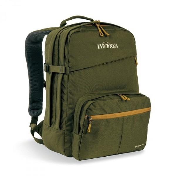 Рюкзак Tatonka Magpie 19 oliveMagpie - городской рюкзак для учебы или работы, оснащен двумя отделенями и специальным плотным отделением для ноутбука 15,4 дюйма. Спереди расположен накладной карман с органайзером. Спинка рюкзака плотная - Padded Back. Лямки мягкие засчет мягких вставок. Рюкзак выполнен из ткани Cordura, прочной и износостойкой.<br><br><br>Система подвески Padded Back<br><br>Эргономичные плечевые лямки<br><br>Нагруднй ремень регулируется по высоте и ширине<br><br>Возможность крепления поясного ремня<br><br>Компрессионные стропы<br><br>Ручка для переноски<br><br>Два основных отделения<br><br>Уплотненное дно<br><br>Передний карман с органайзером и карманом для смартфона<br><br>Отделение для ноутбука (не у дна)<br><br>Держатель для ключей<br><br>Вес кг: 0.70000000