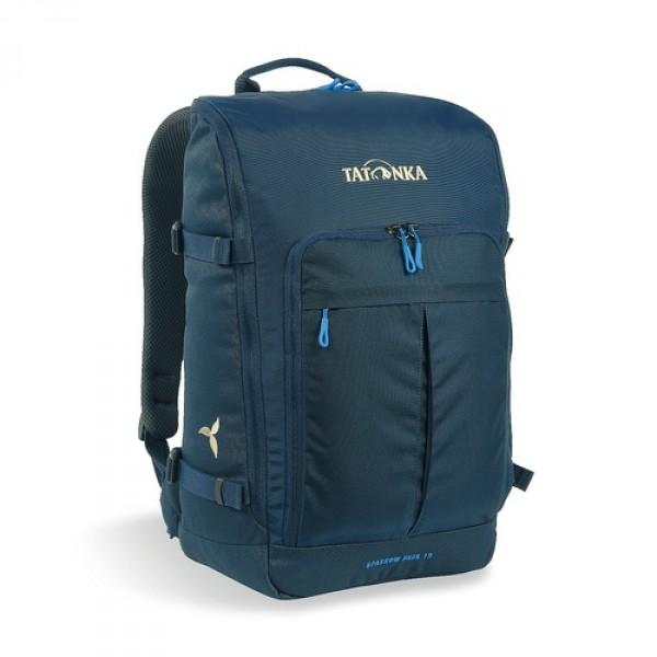 Рюкзак Sparrow Pack 19 Women navyКомпактный рюкзак для учебы или работы. Основное отделение открываются полностью благодаря молнии, идущей по всему периметру рюкзака: собирать рюкзак очень легко, кроме того, легко достать любые вещи. Это удобно, например, в аэропорту на регистрации. Для ноутбука предусмотрен специальный карман. В передней части рюкзака находится отделение с органайзером. Благодаря лямкам анатомической формы и нагрудному ремню, носить рюкзак кофмортно и легко.<br><br><br>Спинка Vent Comfort<br><br>Лямки анатомической формы<br><br>Регулируемый нагрудный ремень<br><br>Компрессионные стропы<br><br>Ручка для переноски<br><br>Дополнительные карманы в основном отделении<br><br>Основное отделение открывается полностью<br><br>Уплотненное дно<br><br>Передний карман с органайзером<br><br>Крючок для ключей<br><br>Отделение для ноутбука 15,4 дюйма<br><br>Вес кг: 0.74000000