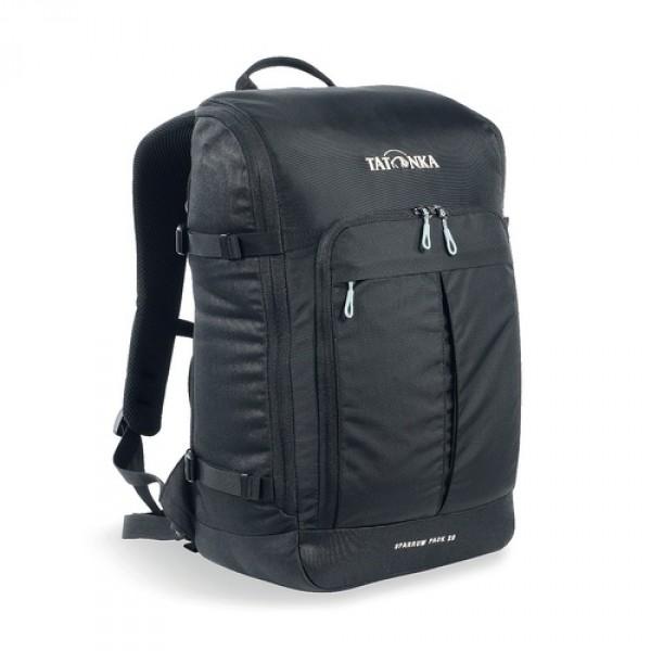 Рюкзак Tatonka Sparrow Pack 22 blackКомпактный офисный рюкзак для учебы или работы. Основное отделение открывается полностью благодаря молнии, идущей по периметру рюкзака. Для ноутбука размером до 15,4 дюймов имеется специальное отделение-карман. Рюкзак, также, оснащен передним карманом с удобным органазйером. Рюкзак отлично держит форму, даже если внутри мало вещей.<br><br><br>Спинка Vent Comfort<br><br>Лямки анатомической формы<br><br>Регулируемый нагрудный ремень<br><br>Компрессионные стропы<br><br>Ручка для переноски<br><br>Дополнительные карманы в основном отделении<br><br>Рюкзак открывается полностью<br><br>Плотное дно<br><br>Передний карман с органайзером<br><br>Крючок для ключей<br><br>Отделение для ноутбука 15,4 дюйма<br><br>Вес кг: 0.75000000