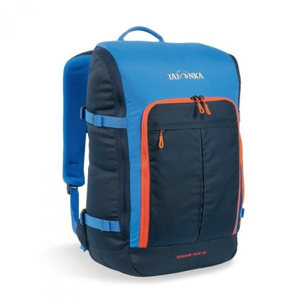 Рюкзак Tatonka Sparrow Pack 22 bright blueКомпактный офисный рюкзак для учебы или работы. Основное отделение открывается полностью благодаря молнии, идущей по периметру рюкзака. Для ноутбука размером до 15,4 дюймов имеется специальное отделение-карман. Рюкзак, также, оснащен передним карманом с удобным органазйером. Рюкзак отлично держит форму, даже если внутри мало вещей.<br><br><br>Спинка Vent Comfort<br><br>Лямки анатомической формы<br><br>Регулируемый нагрудный ремень<br><br>Компрессионные стропы<br><br>Ручка для переноски<br><br>Дополнительные карманы в основном отделении<br><br>Рюкзак открывается полностью<br><br>Плотное дно<br><br>Передний карман с органайзером<br><br>Крючок для ключей<br><br>Отделение для ноутбука 15,4 дюйма<br><br>Вес кг: 0.75000000