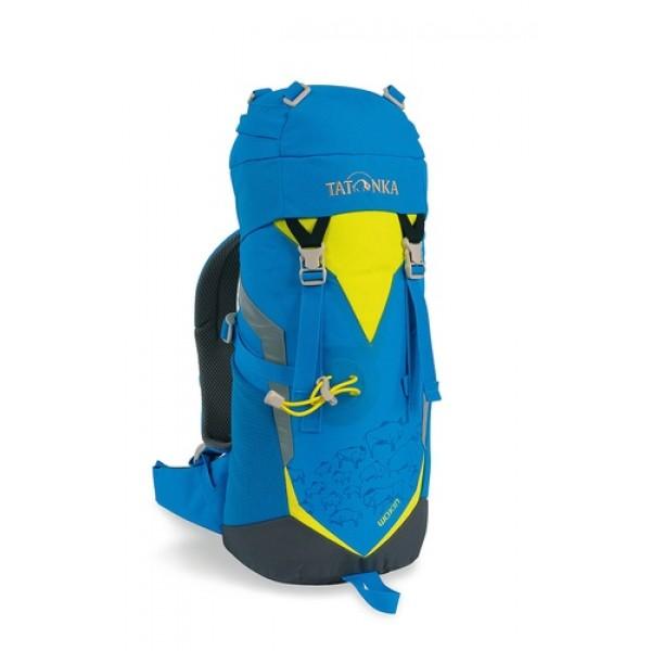 Рюкзак Tatonka Wokin 11 brightblueТрекинговый рюкзак для юных путешественников. Смягченная несущая система рюкзака приспособлена к телосложению ребенка, а спортивный дизайн делает его взрослым.<br><br><br>Несущая система Padded Back<br><br>Держатель для трекинговой палки<br><br>S-образный плечевой ремень<br><br>Регулируемый по высоте нагрудный ремень<br><br>Боковые утягивающие ремни<br><br>Удобная ручка<br><br>Карман на молнии в крышке рюкзака<br><br>Основное отделение на шнуровке<br><br>Боковые сетчатые карманы<br><br>Табличка для имени внутри рюкзака<br><br>Яркие светоотражающие элементы повышаю безопасность<br><br>Вес кг: 0.51000000