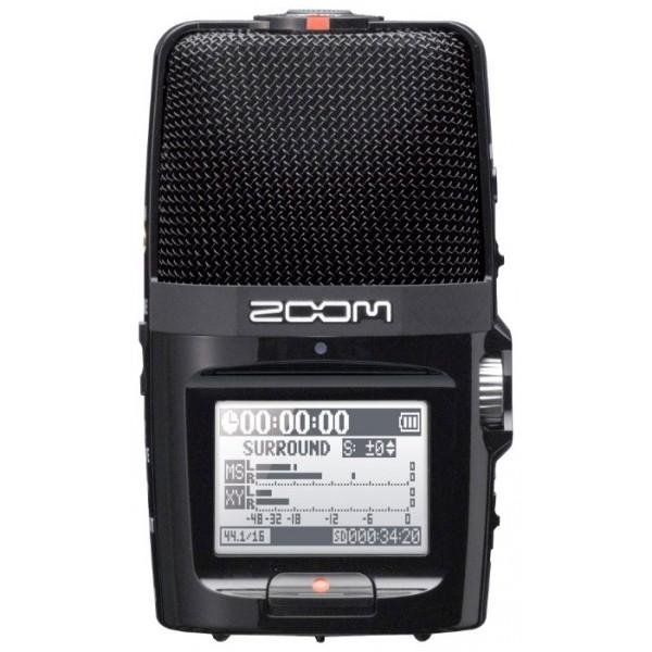 Рекордер Zoom H2n портативныйКорпорация ZOOM представляет вашему вниманию новое поколение рекордеров в лице Н2n – самого инновационного портативного рекордера на сегодняшний день. Все новаторские функции собраны в корпусе этого портативного устройства, позволяющего записывать чистый звук везде, где бы вы ни находились. В кино- и радиовещании, журналистике, подкастинге, музыкальных представлениях, песнях и репетициях – Н2n обеспечит потрясающее качество записи. Вне зависимости от сферы применения, Н2n обеспечит наилучшую стерео запись, и при всём при этом легко поместится в Вашем кармане. ZOOM H2n — новый стандарт в портативной звукозаписи.<br><br>ZOOM Н2n – первый портативный рекордер, поддерживающий Mid-Side стерео запись. Технология Mid-Side сочетает в себе однонаправленный средний микрофон, улавливающий звук непосредственно перед Вами и двунаправленный сторонний микрофон, улавливающий звук слева и справа. Путем регулировки баланса лево/право стороннего микрофона, можно контролировать ширину стерео поля, что даёт Вам невероятную гибкость в процессе звукозаписями. При записи в режиме RAW, ширину стерео поля можно регулировать даже по окончании записи.<br><br>Встроенные 90-градусные X/Y конденсаторные стерео микрофоны расположены на одной оси с двунаправленным сторонним микрофоном. При подобной конструкции микрофон всегда находится на равном расстоянии от источника звука, гарантируя идеальную локализацию и отсутствие сдвига фаз. В результате получается блестящая стерео запись с естественной глубиной и точным отображением.<br><br>Отличительной особенностью ZOOM Н2n являются 5 встроенных микрофонных капсюлей. Такая конструкция обеспечивает Н2n 4 уникальных режима записи: стерео Mid-Side (MS) , стерео 90° X/Y, двухканальный и четырехканальный объемный звук.<br><br>ZOOM Н2n поддерживает линейную PCM WAV (Pulse Code Modulation) запись 24бит/96кГц, что намного превышает стандартное CD-качество. Используйте WAV-формат высокого разрешения, для точной записи как реалистичных