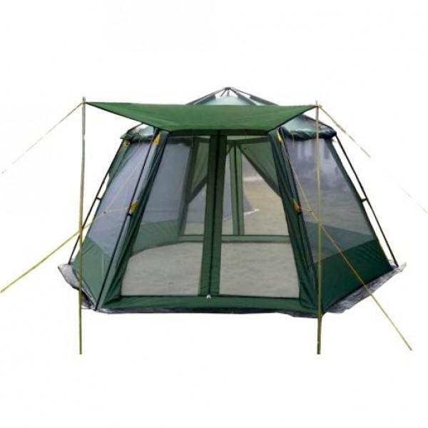Тент-шатер Talberg Arbour AutoБольшой каркасный автоматический шатёр без дна, для размещения кухни или столовой. В комплект входят стойки для нового входа.<br><br>Вес кг: 5.40000000