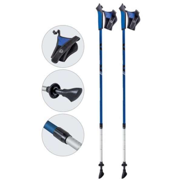 Палки Ecos AQD-B017 телескопические для скандинавской ходьбыЛегкие и прочные универсальные палки для скандинавской ходьбы Ecos AQD-B017.<br>